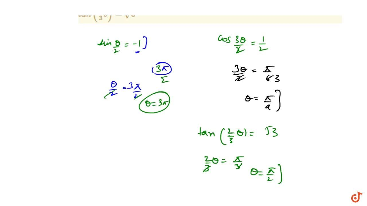 Solution for Solve the following trigonometric equations: s in