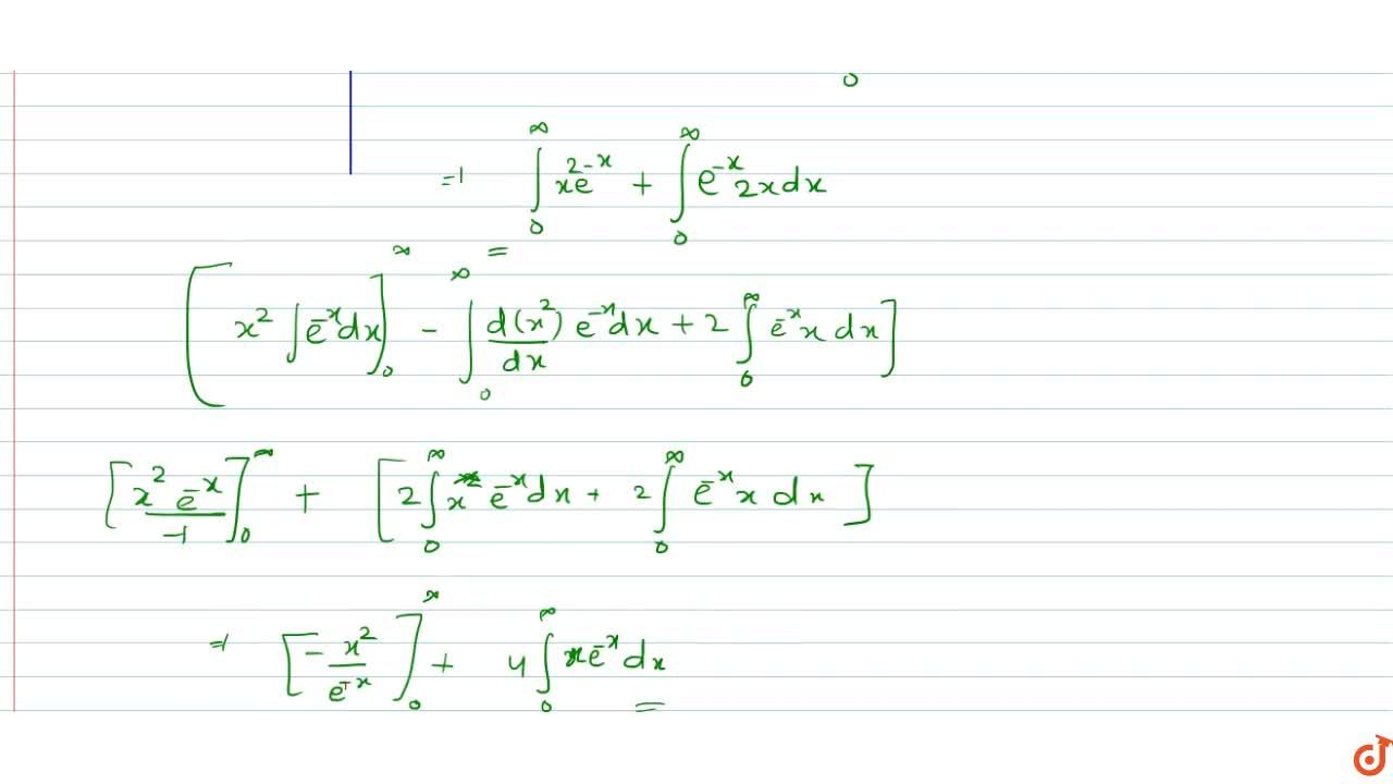 Solution for  Area enclosed by the curve  y = (x^2 + 2x)e^(-x)