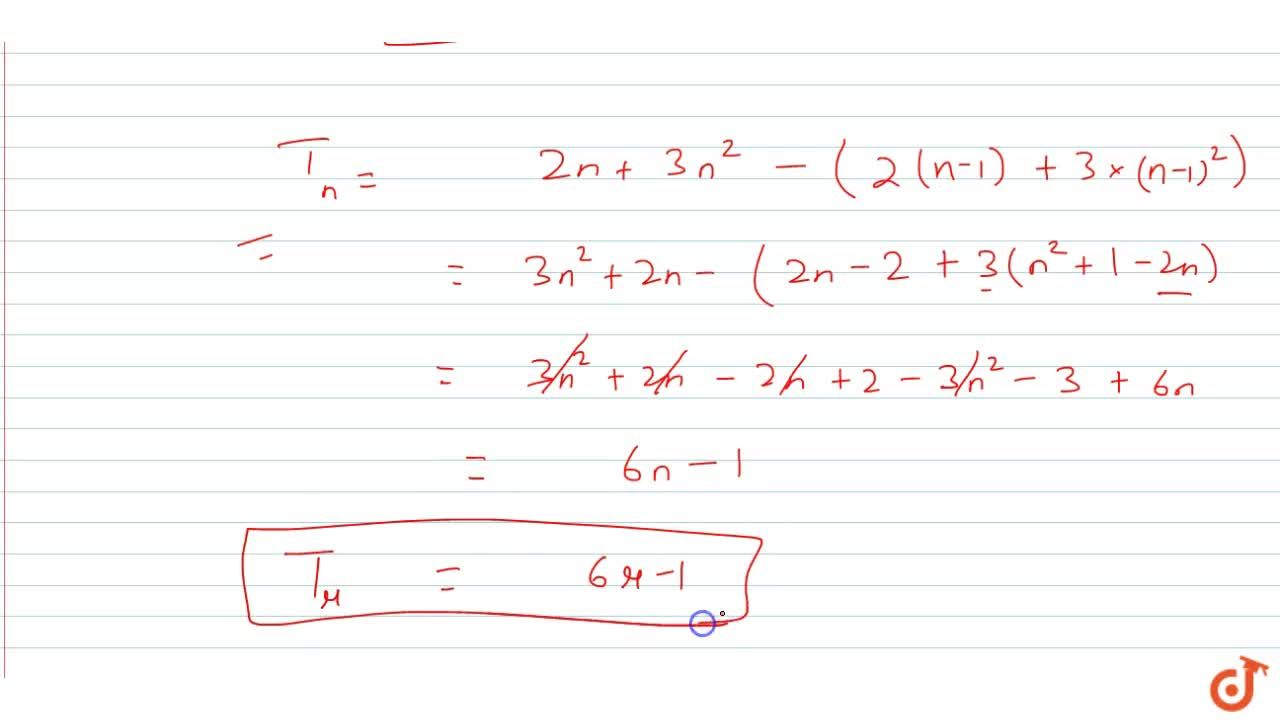 Solution for If the sum of n terms of an A.P is 2n + 3n^2 , f