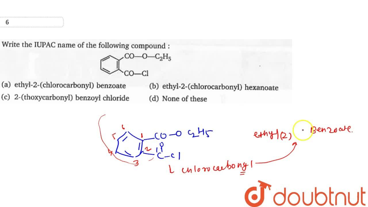 Solution for Write the IUPAC name of the following compound: <b