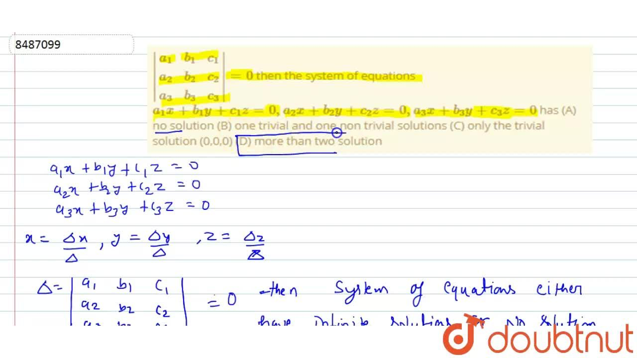 Solution for  |(a_1,b_1,c_1),(a_2,b_2,c_2),(a_3,b_3,c_3)|=0 t
