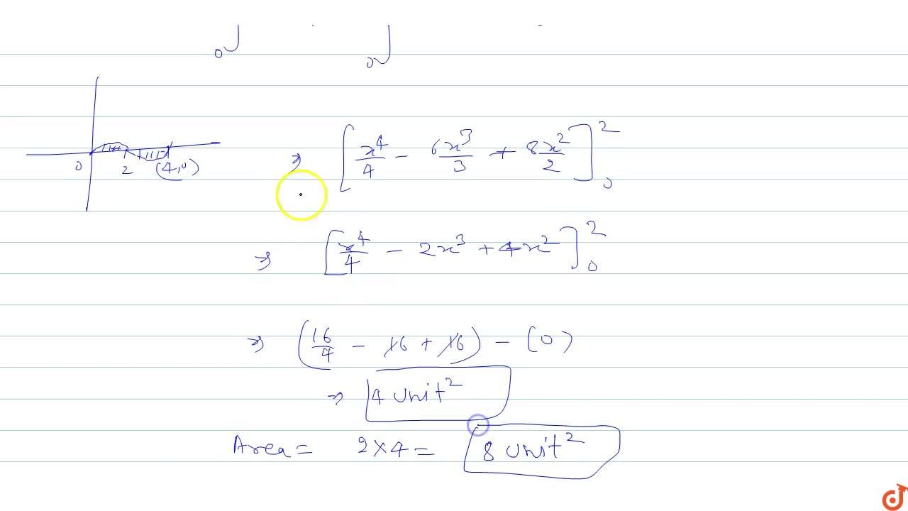 Solution for The area bounded by the y = x^3-6x^2 + 8x and th