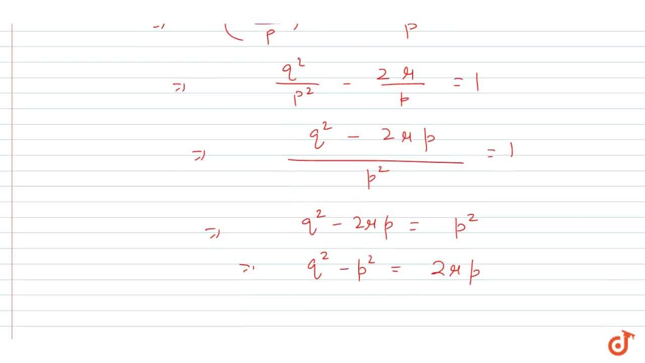 Solution for If sin theta and cos theta are the roots of th