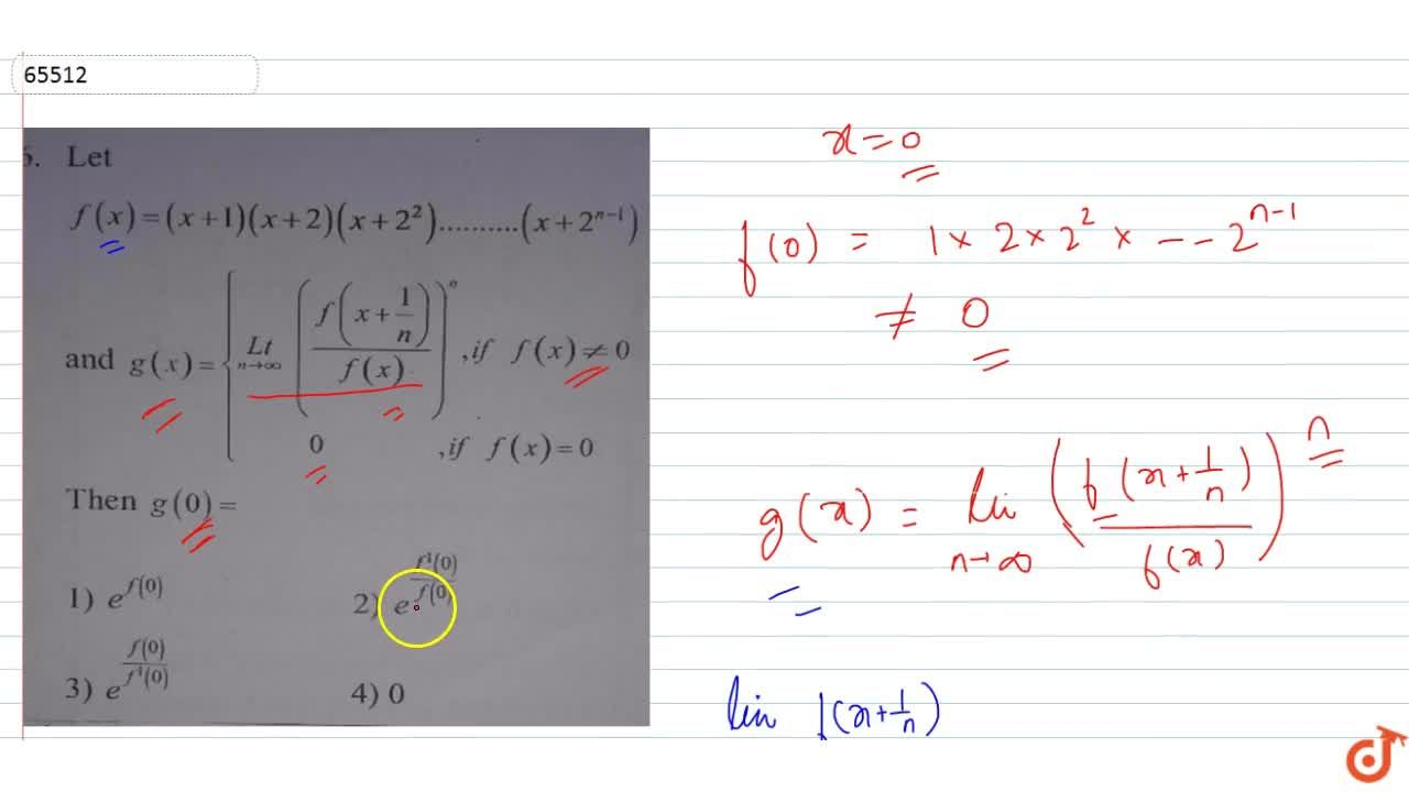 Solution for Let f(x)=(x+1)(x+2)(x+2^2)+..+(x+2^(n-1)) and g