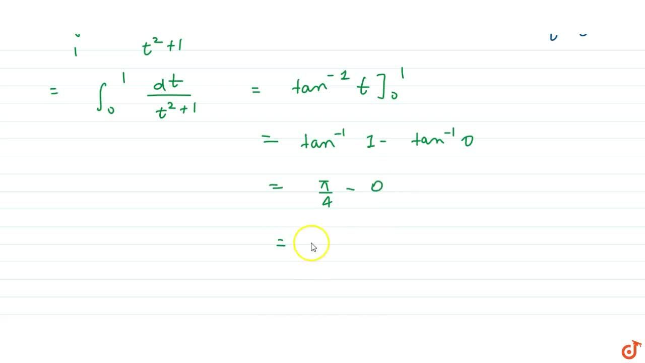 Let f be a twice differentiable function such that f''(x) = 1-f(x) where f'(0)=f(0)=1The value of int_0^(pi,2)(f(x)-1),(cos^2x+1) is equal to