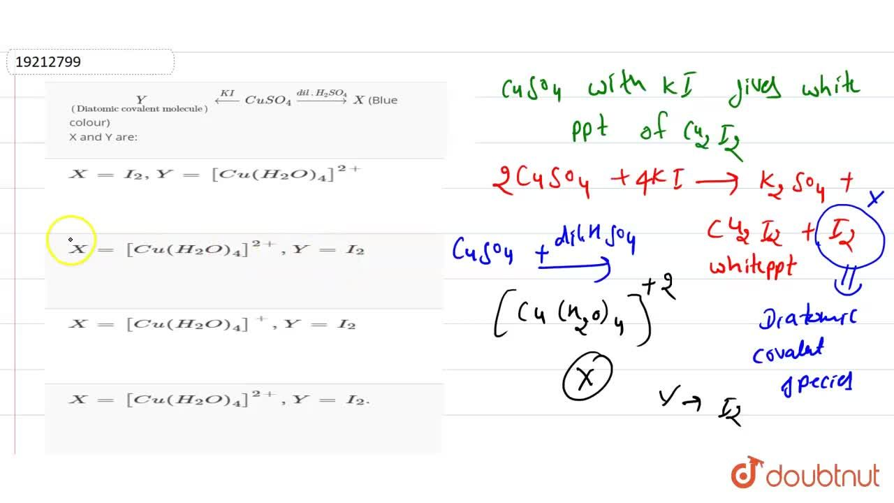 """Solution for underset((""""Diatomic covalent molecule""""))(Y)overse"""