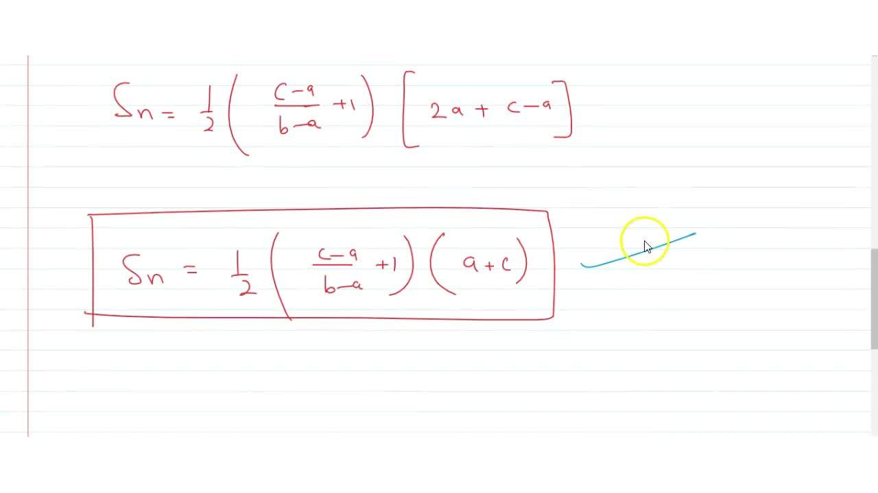 Solution for If the first, second and nth terms of a A.P. a