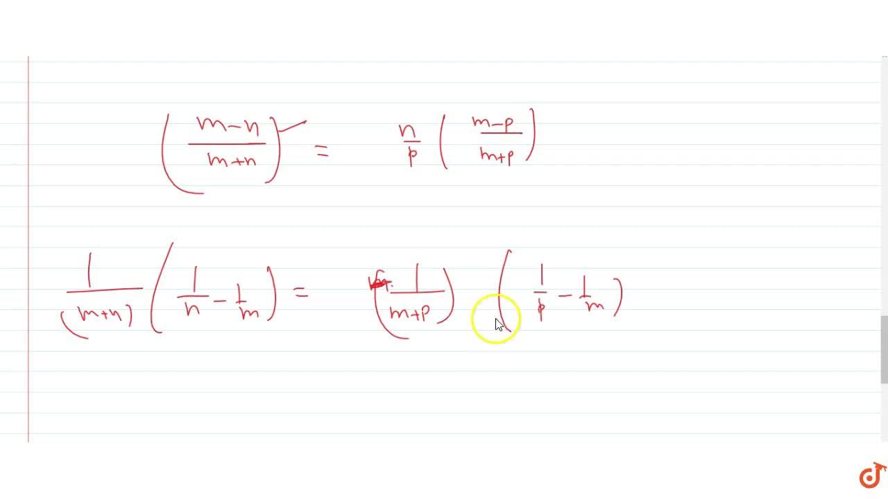 Solution for  If the sum of m terms of an A.P is equal to t