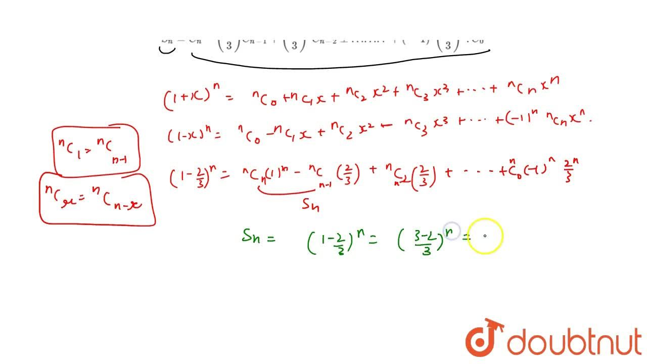 Solution for With the notation C_r= ^nC_2 = (n!),(r!(n-r)! )