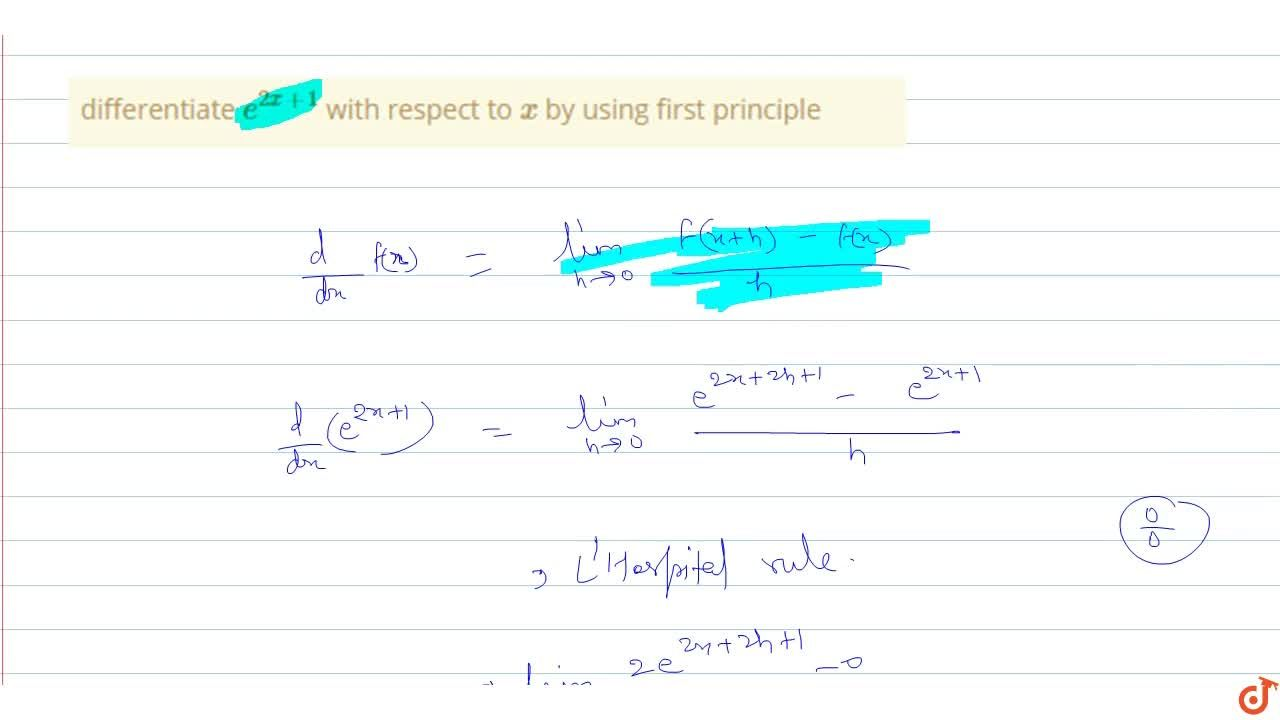 Solution for differentiate e^(2x+1) with respect to x by us