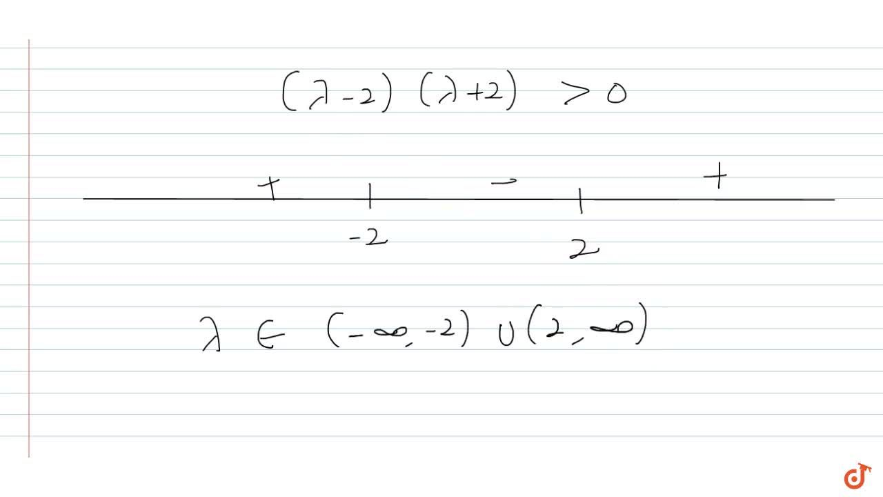 Solution for  If the two roots of the equation (lambda-1)(x^2