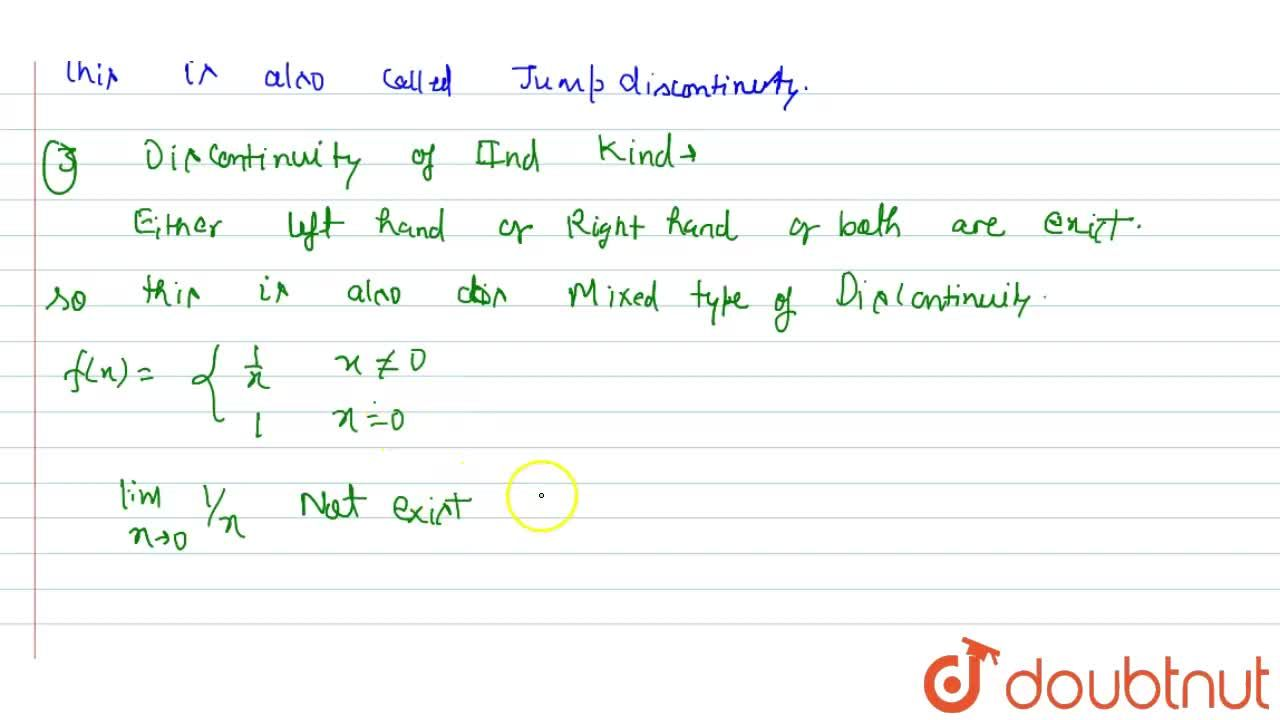Type of Discontinuity