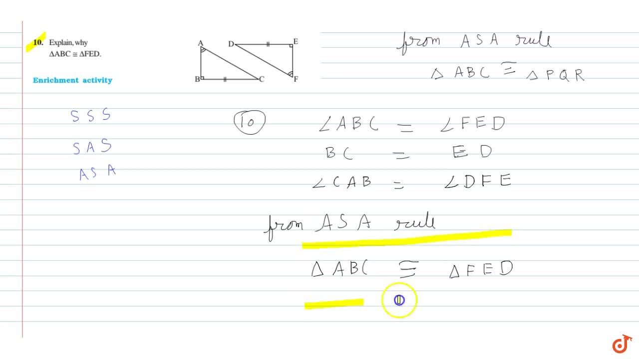 If DeltaABC and Delta PQR are to be congruent, name one additional pair of corresponding parts. What criterion did you use ?