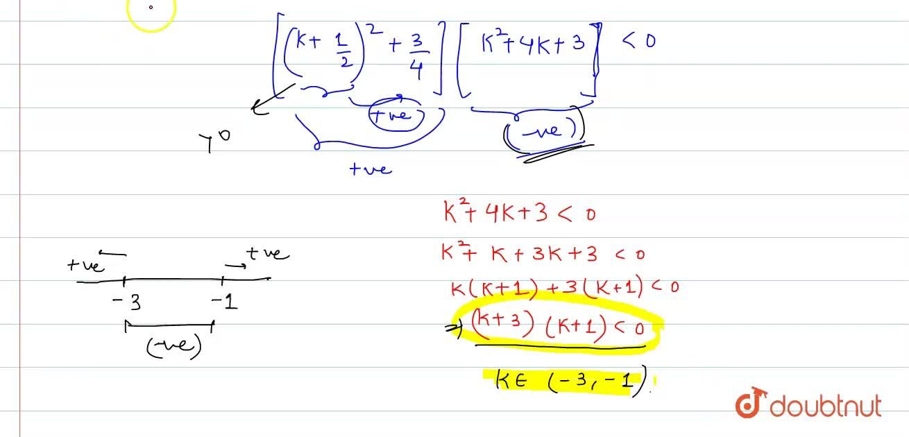If exactly one root of the quadratic equation x^2-(k+11,3)x-(k^2+k+1)=0 lies in (0,3) then which one of the following relation is correct?