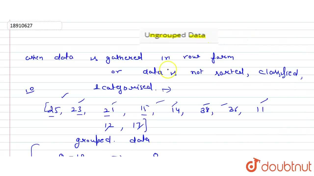 Solution for Ungrouped Data