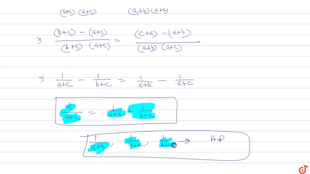 Solution for  If a^2, b^2, c^2 are in AP then prove that 1,(