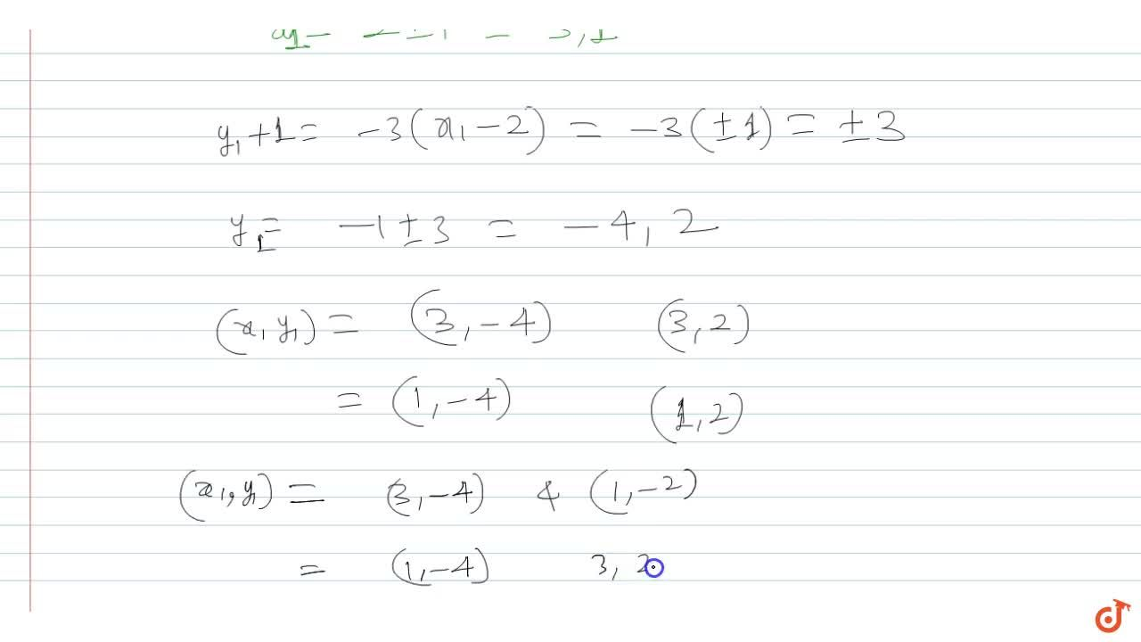 Solution for A line parallel to the line x - 3y = 2 touches t