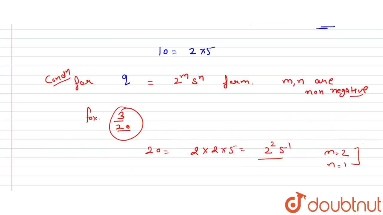 Write the condition to
