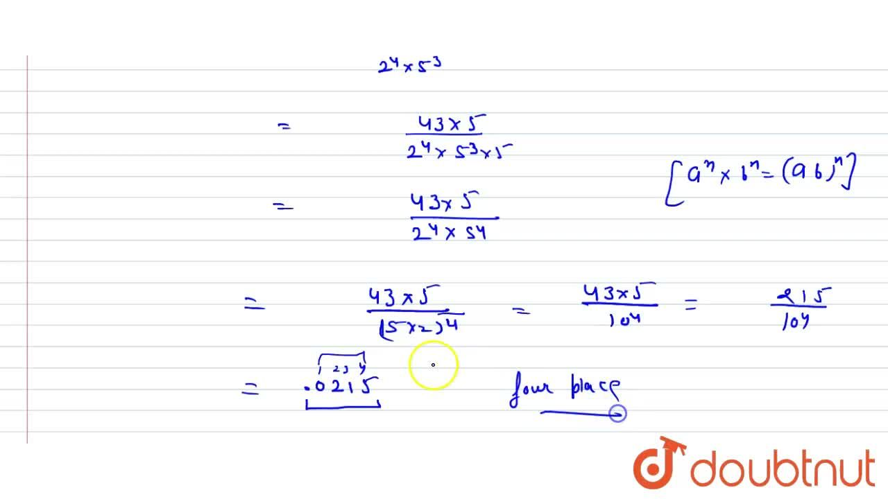 Solution for The decimal expansion   of the rational number (