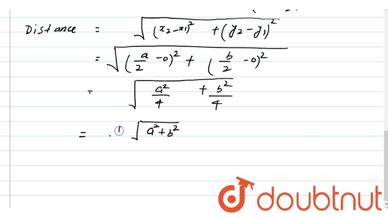 Solution for Find the distance between the orthocenter and circ