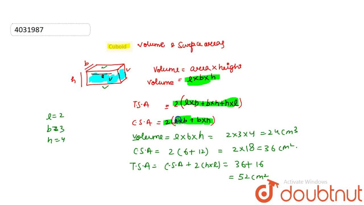 Solution for Cuboid