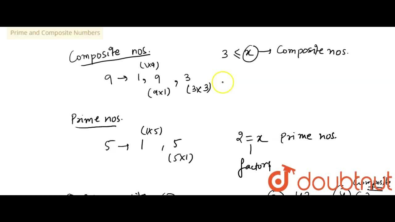 Solution for Prime and Composite Numbers