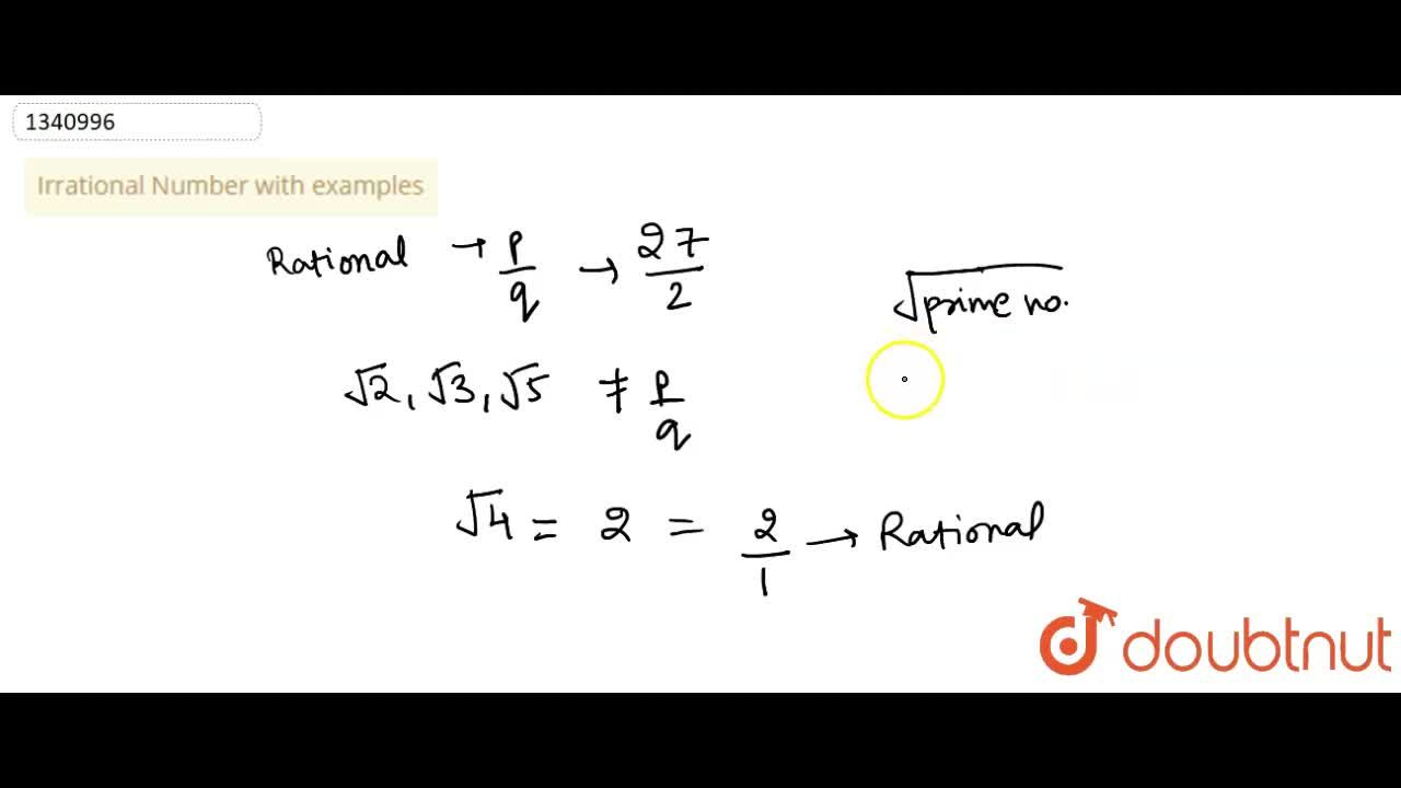 Irrational Number with examples