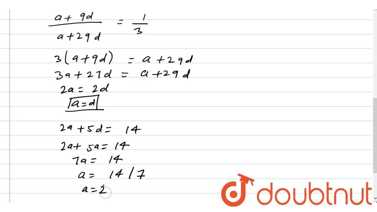Solution for The sum of first six terms of an AP. is 42. The ra