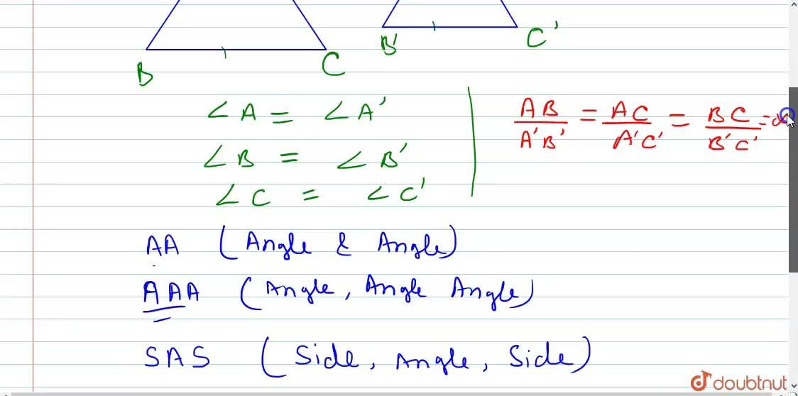Similar Triangles and their properties