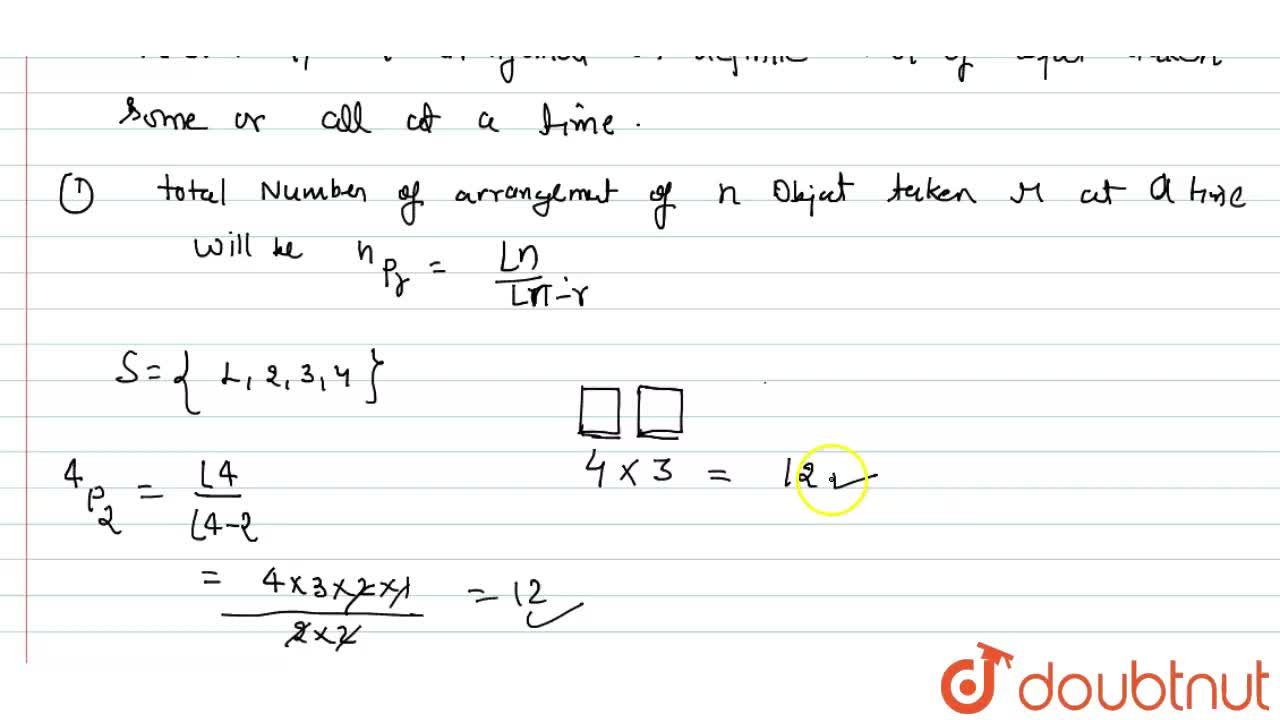 Solution for What is permutation ?
