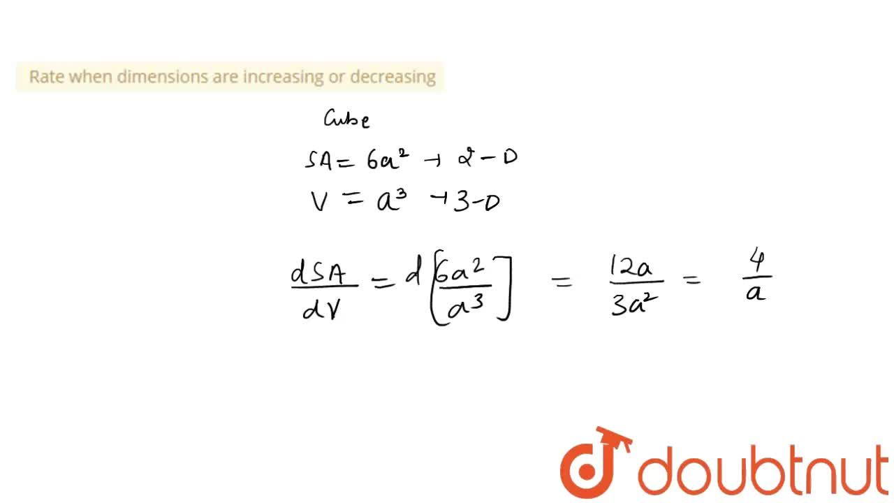 Solution for Rate when dimensions are increasing or decreasing