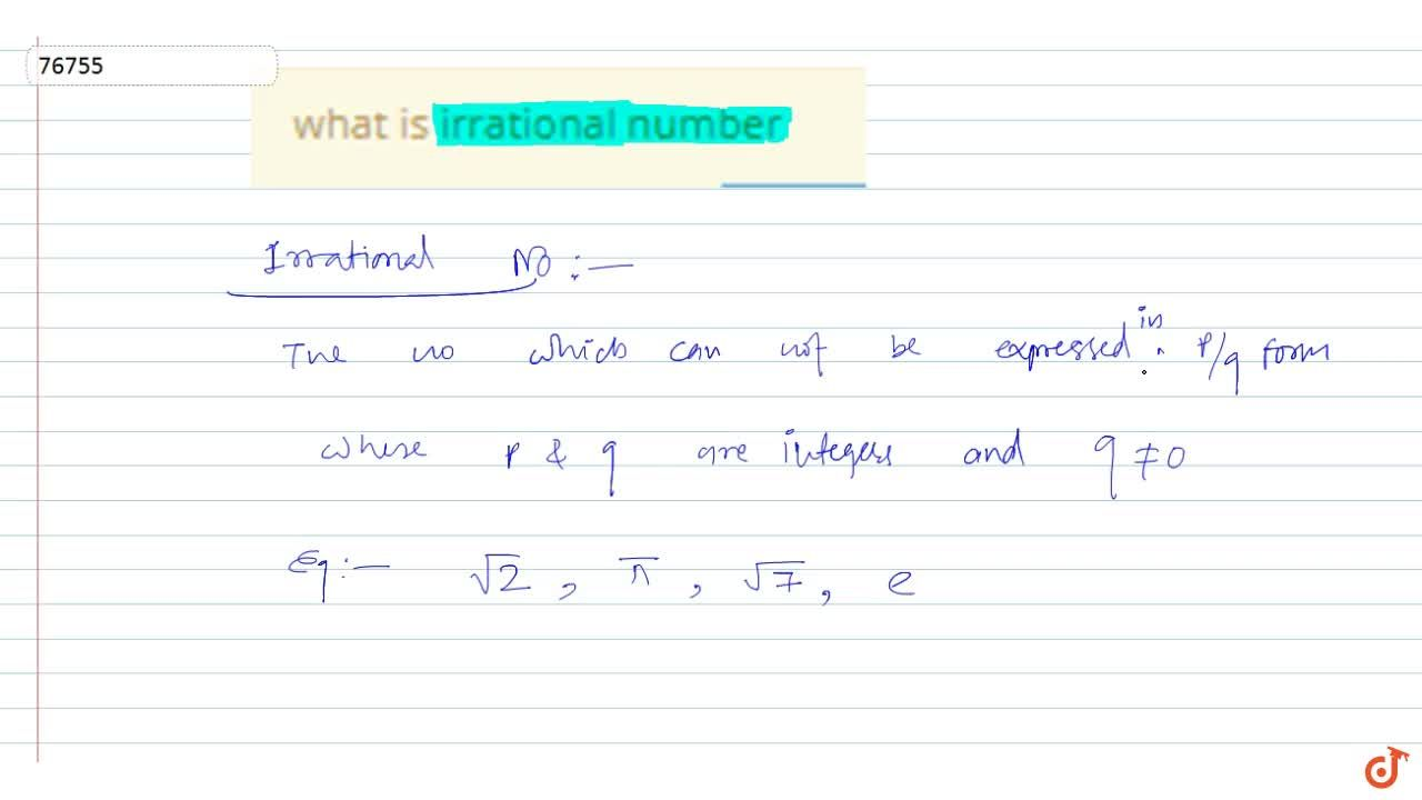 Solution for what is irrational number