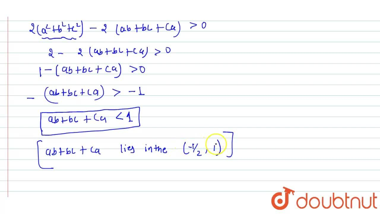 Solution for  If a, b, and c are distinct positive real num