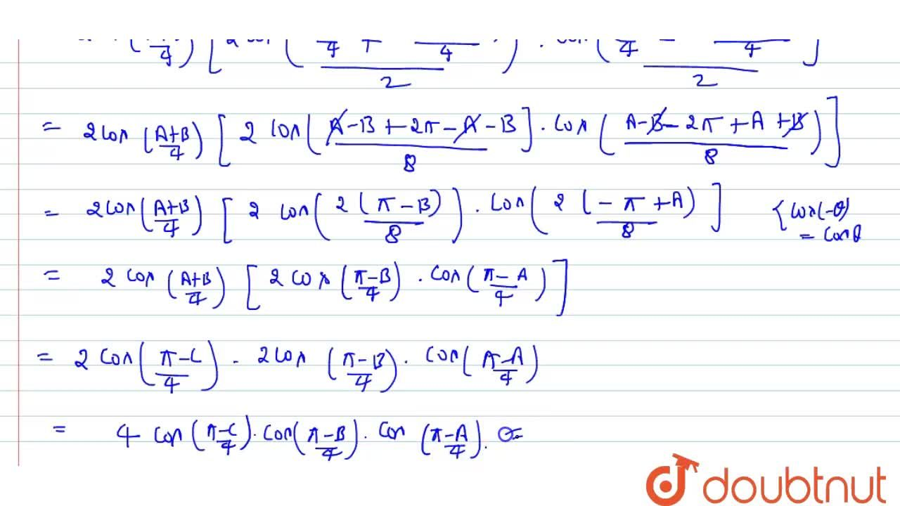 Solution for In triangle ABC, prove that cos(A,2)+cos(B,2)+cos