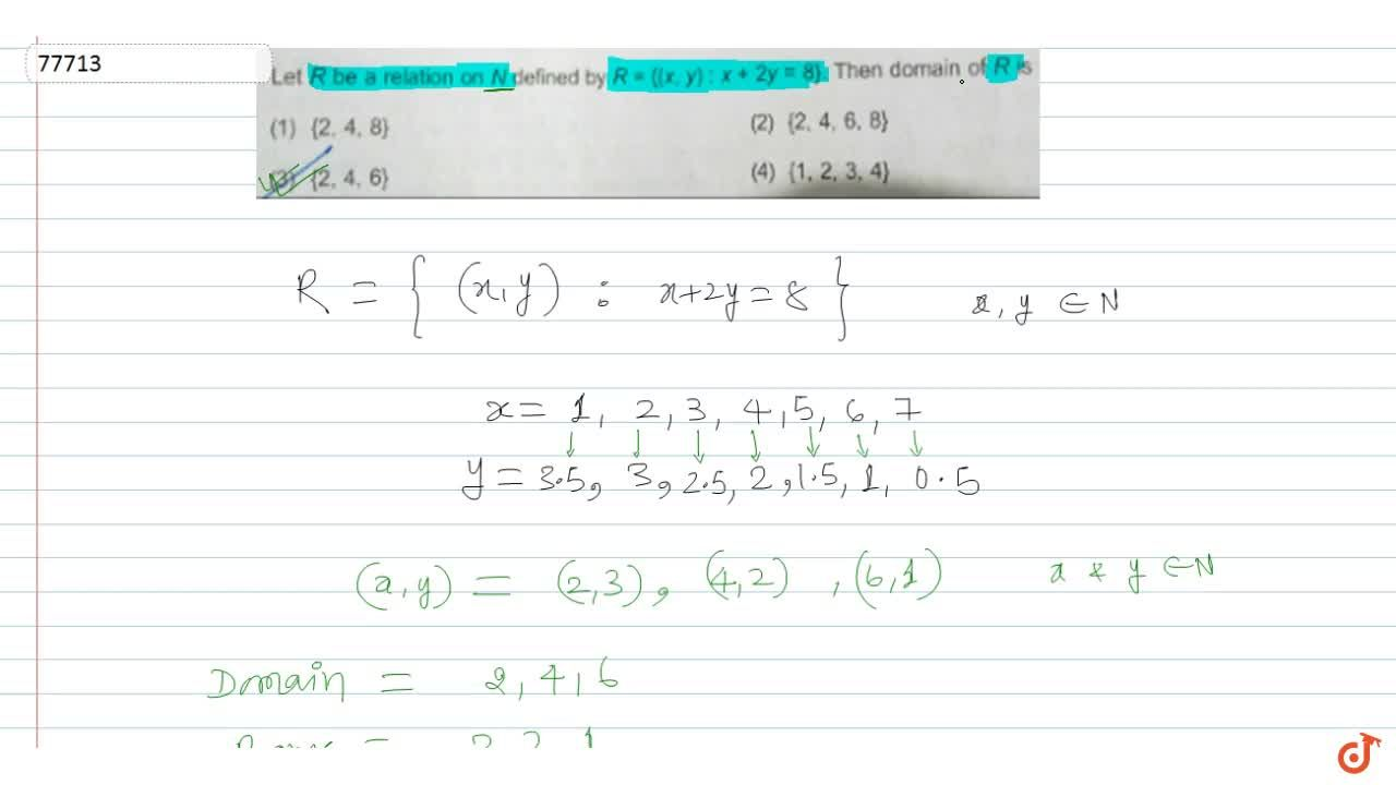 Solution for Let R be a relation on N defined by R = {(x, y) :