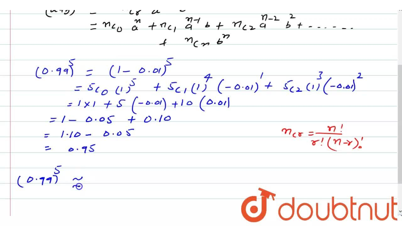 Solution for (iii) Find an approximate value of (0.99)^5 usin