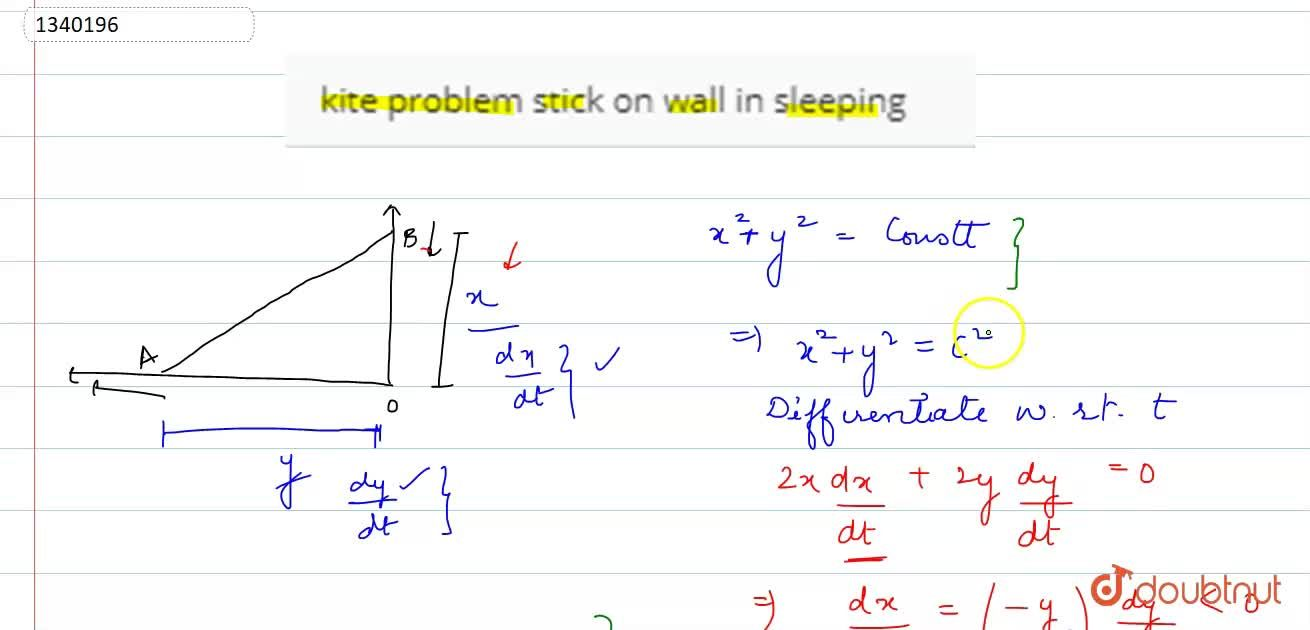 kite problem stick on wall in sleeping
