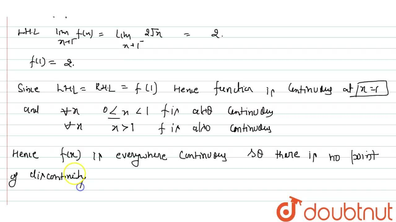Solution for The points of   discontinuity of the function f(x