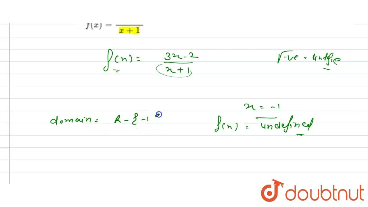 Solution for Find the domain of each of the following real valu