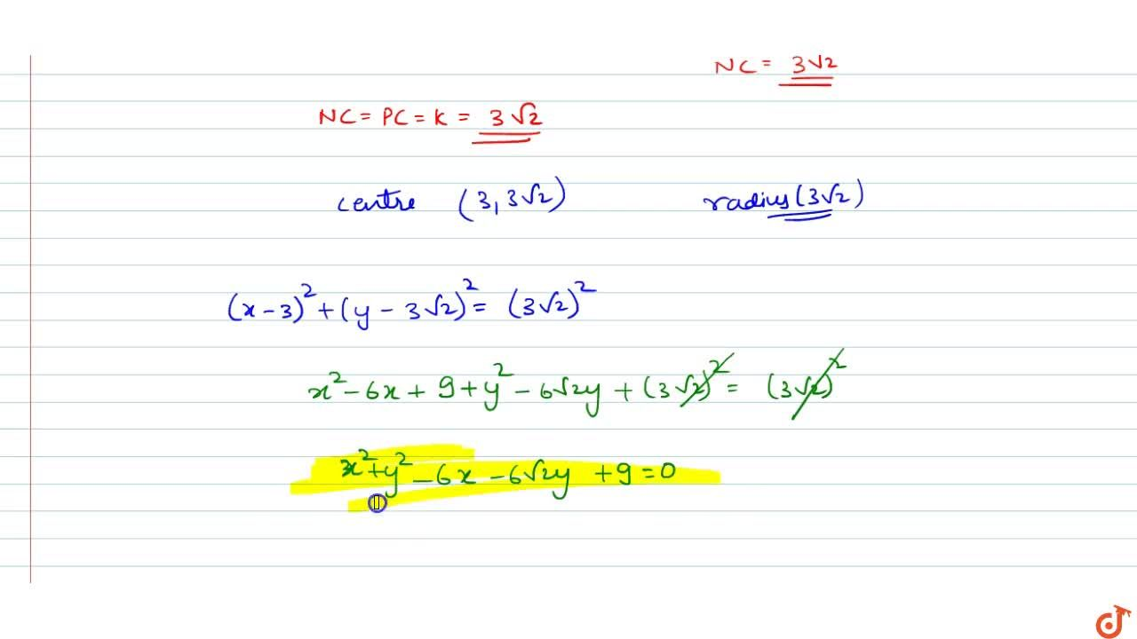 Solution for Find the equation to the circle which touches the