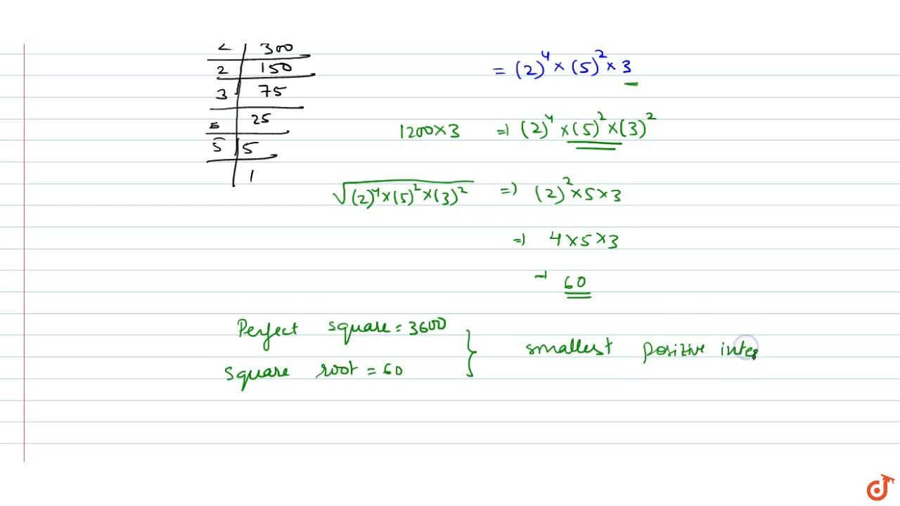 Solution for find the smallest natural number by which 1200 sho