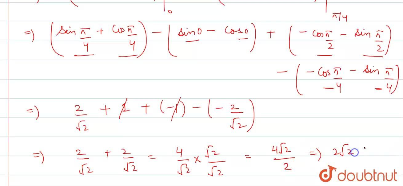 Solution for Evaluate the following integral: int_0^(pi,,2)|si