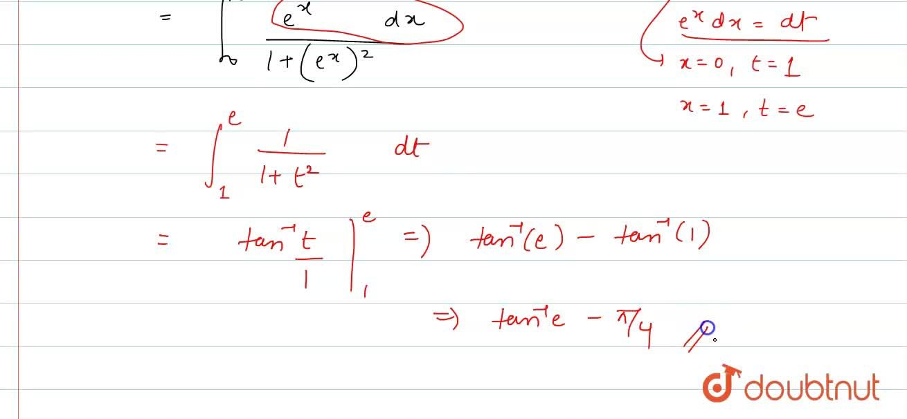 Solution for Evaluate the following integral: int_0^1(e^x),(1+