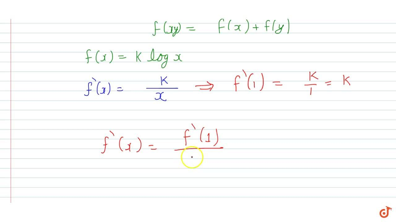 Solution for Let f(x) be a differentiable function which sati