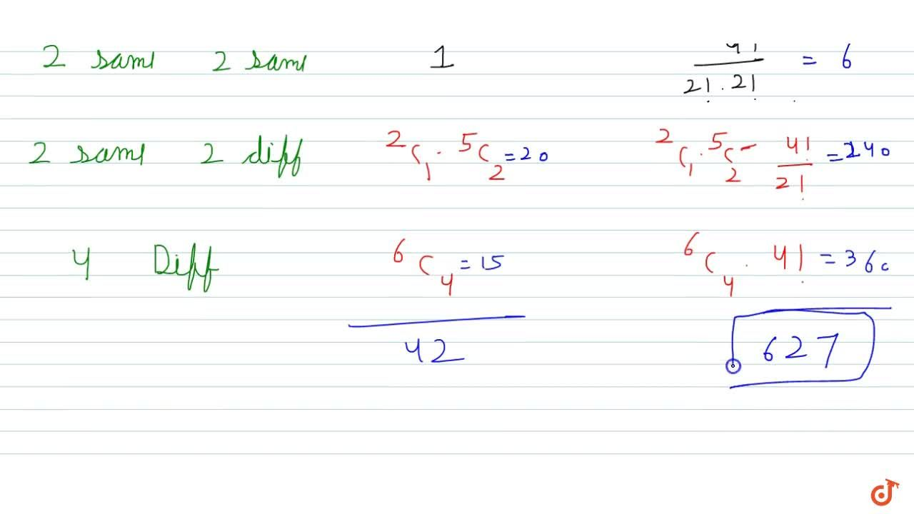 Solution for find the number of permutation and combination of