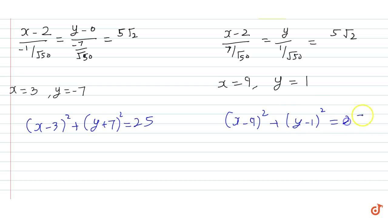 Solution for Obtain the equations of the straight lines passing