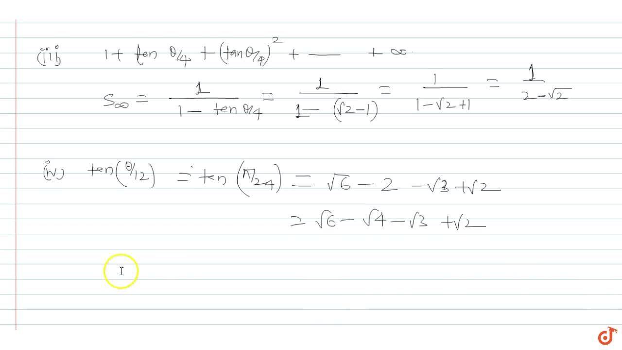 Solution for  If the system of equation x-(sin theta)y-z = 0,