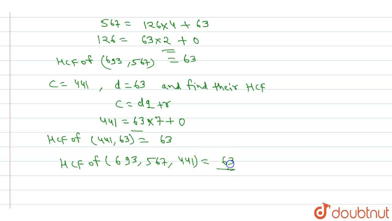 Solution for Use Euclid division algorithm to find the HCF of 4
