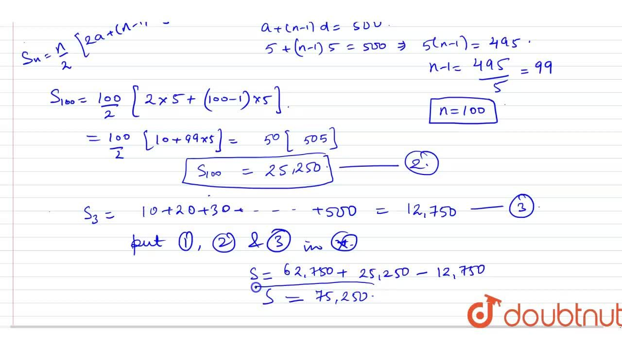 Solution for Find the <br> (i) sum of those integers between 1