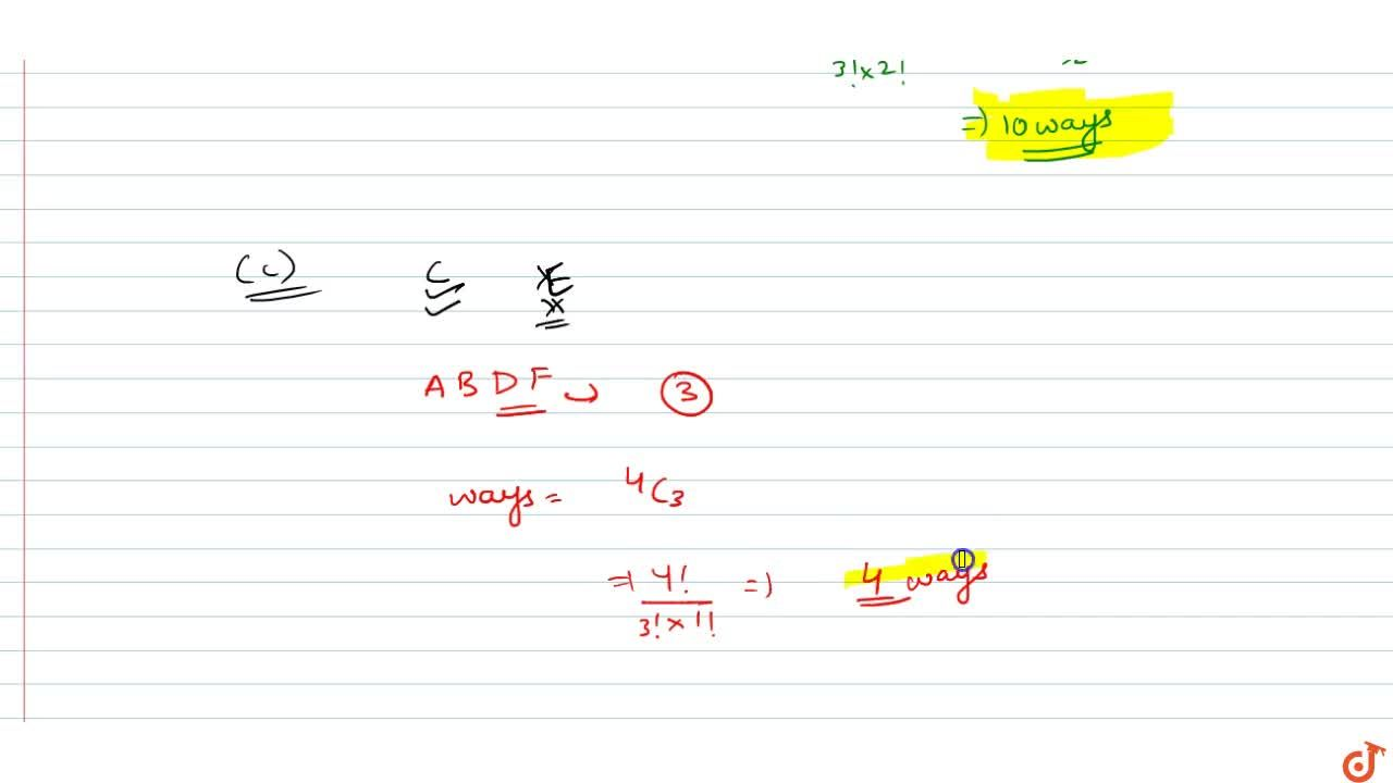 Solution for  4. There are 6 students A, B, C, D, E, F a) In ho